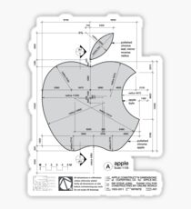 Apple Construction Dimensions Sticker
