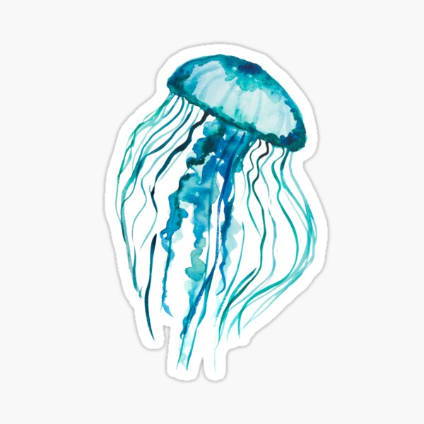 Watercolor Jellyfish Sticker