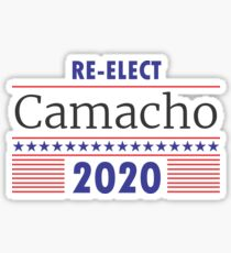 Re-Elect Camacho Stars and Stripes Sticker