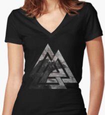Odin's Raven Women's Fitted V-Neck T-Shirt