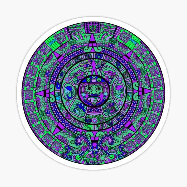 Psychedelischer Maya-Kalender Sticker