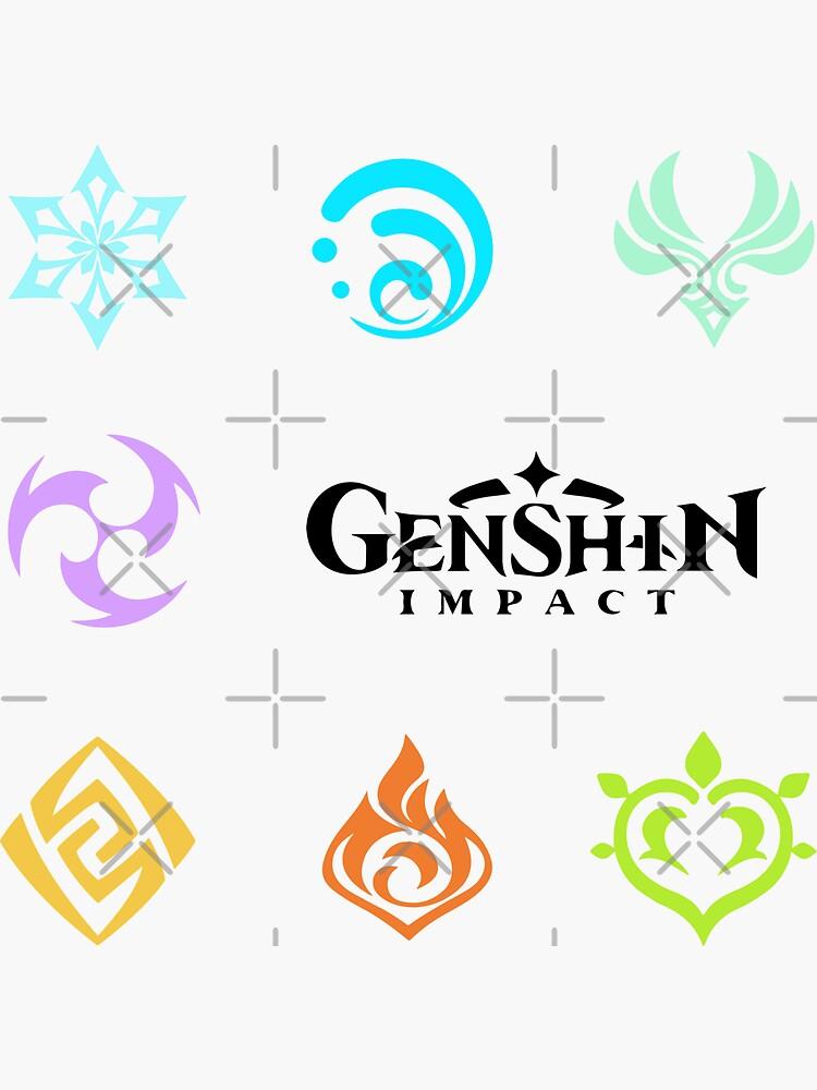 Genshin Impact Fan Art Stickers by patternarium
