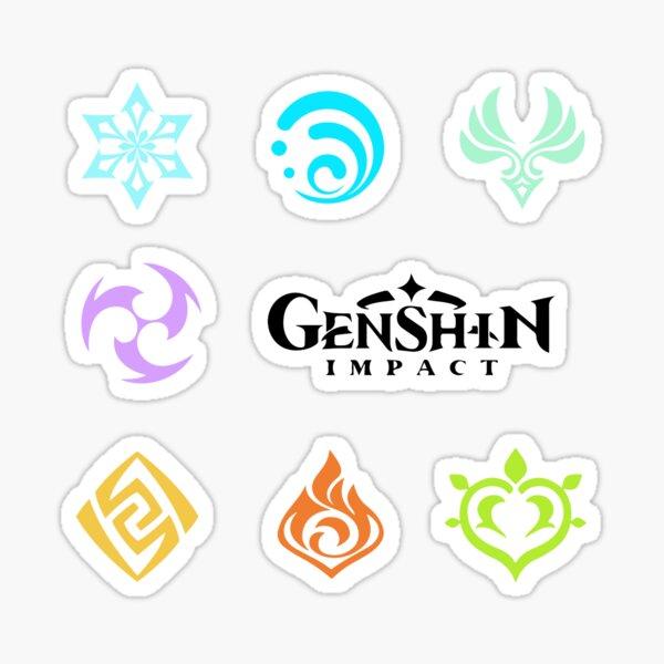 Autocollants d'art de fan de Genshin Impact Sticker