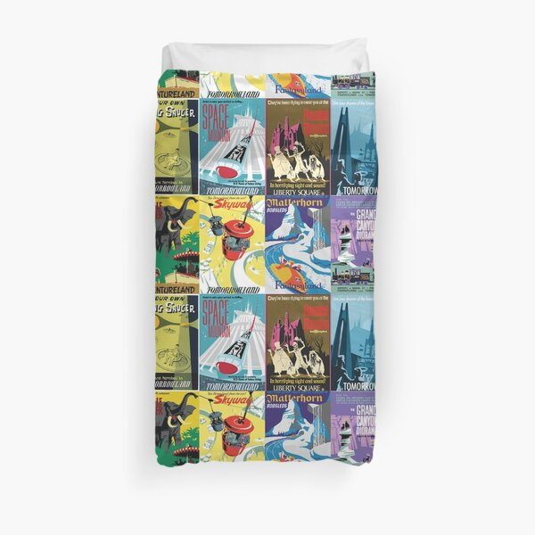 Vintage Ride Posters Duvet Cover