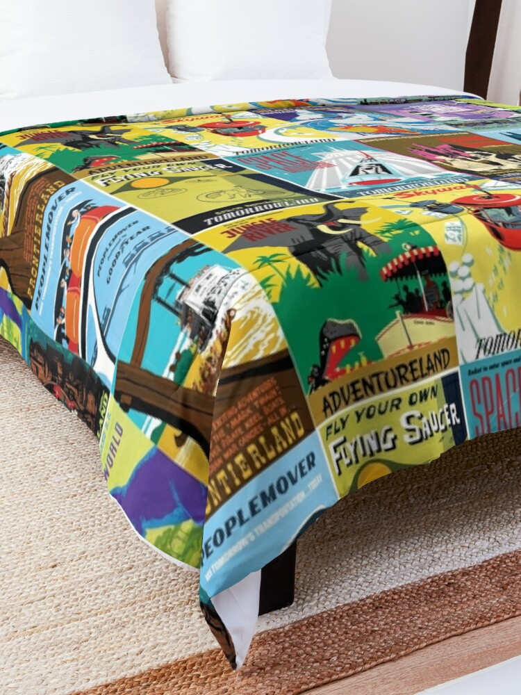 Alternate view of Vintage Ride Posters Comforter