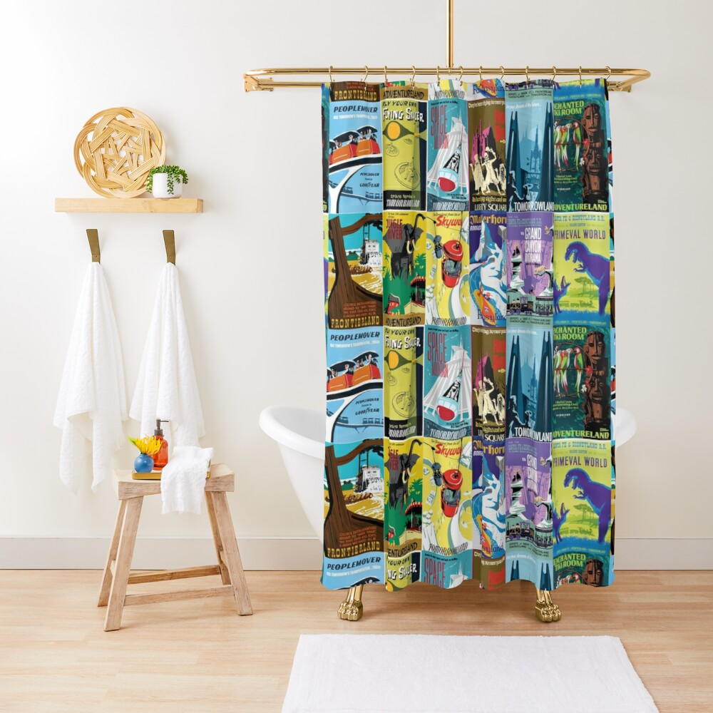 Vintage Ride Posters Shower Curtain