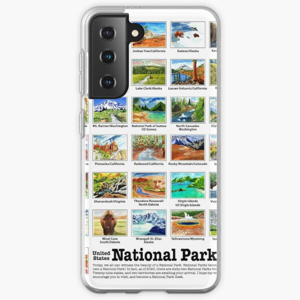 US National Parks I-Z, Watercolors Samsung Galaxy Soft Case