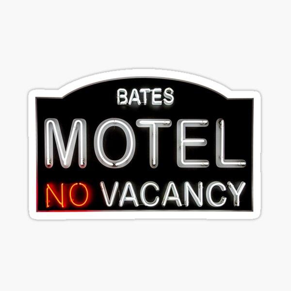 Bates Motel Sign Sticker