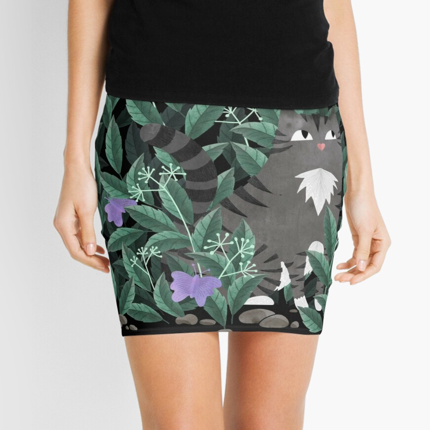 Butterfly Garden (Lavender Butterfly Version) Mini Skirt