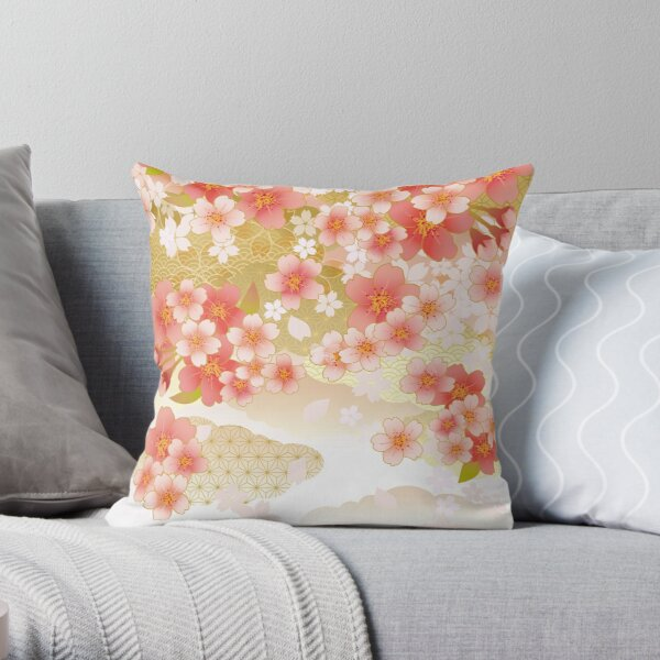 Beautiful cherry blossoms of Japan Throw Pillow