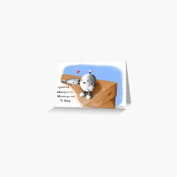 Sponsorbot Greeting Card