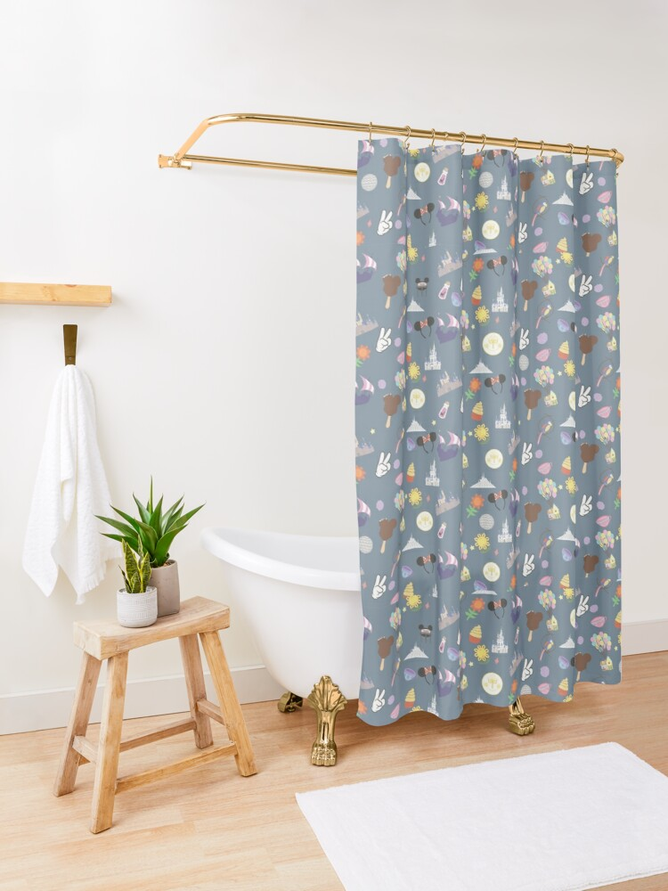 Alternate view of Meet Me at My Happy Place Shower Curtain