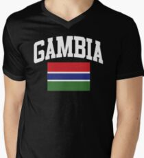 Gambia Flag t-shirt Men's V-Neck T-Shirt