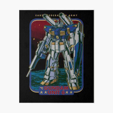 Retro Gundam Unit 6 Art Board Print