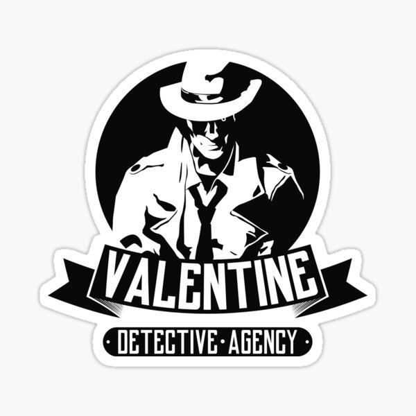 Valentine Detective Agency Sticker