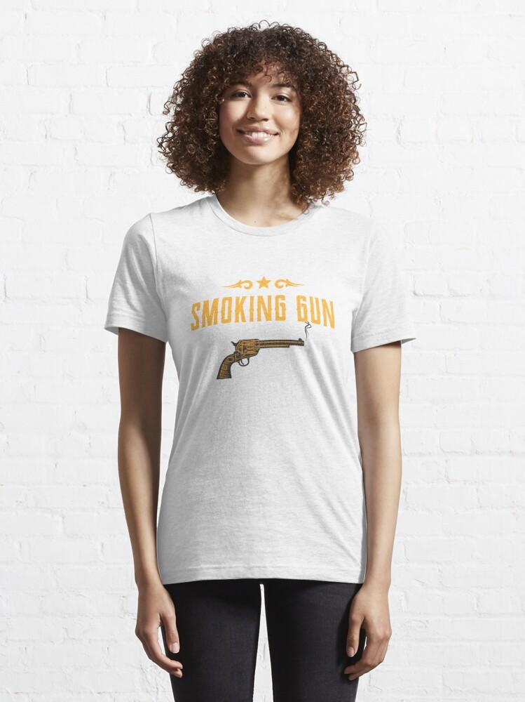 Alternate view of Smoking Gun Design Essential T-Shirt