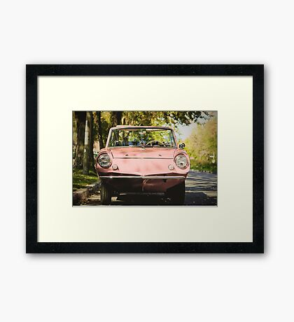 Seashell on Wheels Framed Print