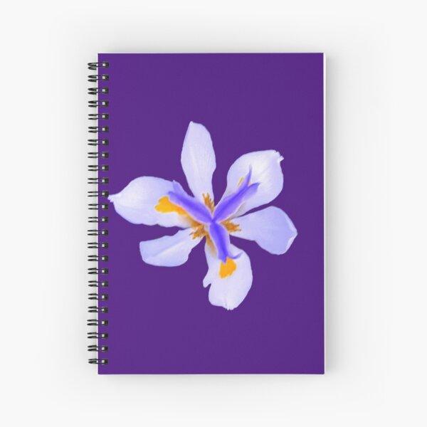 Wild Iris in Purple Spiral Notebook