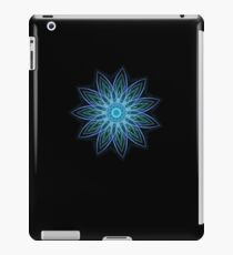 Fractal Flower - Blue iPad Case/Skin