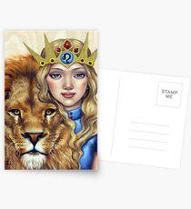 Leo Girl Postcards