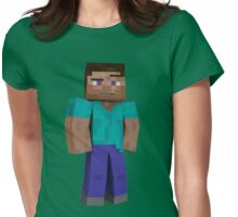 Minecraft Steve Womens Fitted T-Shirt