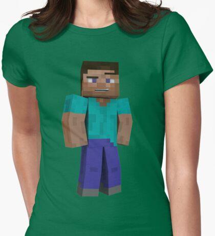 Minecraft Steve Womens Fitted T-Shirt