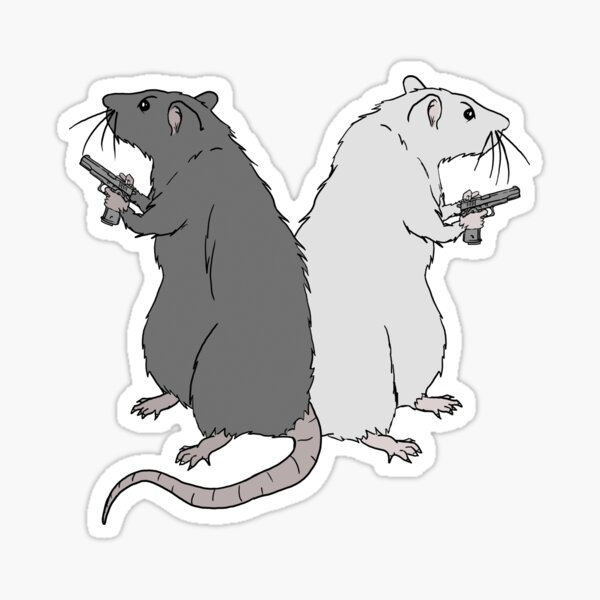 Rats with Gats Sticker