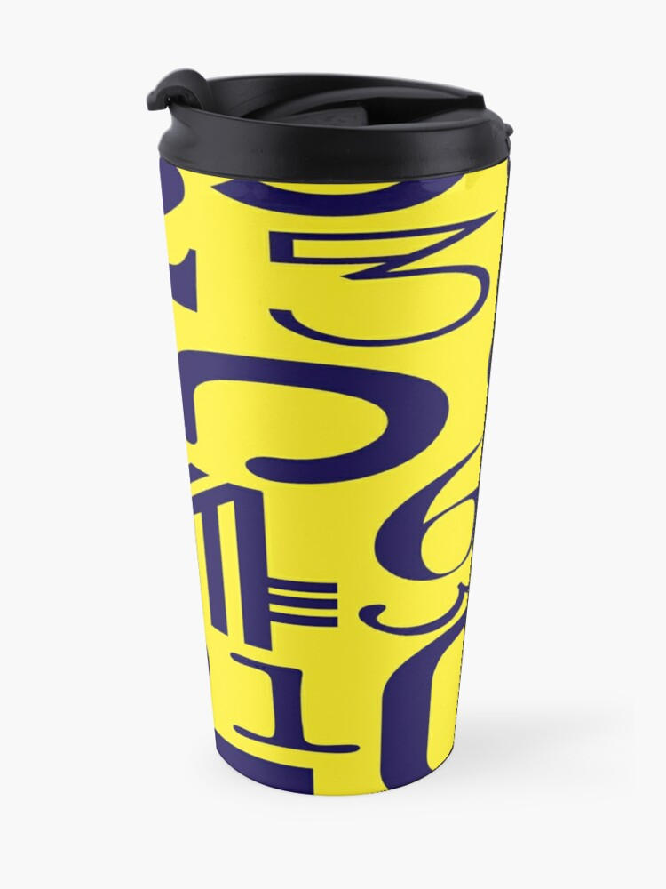 Alternate view of Blue Numbers  Travel Mug