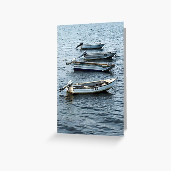 Outboard Motors Greeting Card