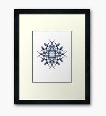 Barbed Blue - Fractal Art design Framed Print