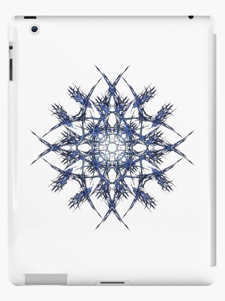 Barbed Blue - Fractal Art design by Leah McNeir