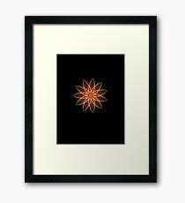 Fractal Flower - Red  Framed Print