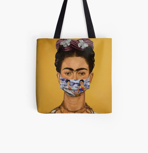Frida Kahlo pop art poster on Tote Bag printing on bags