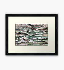Surrounded -Vietnamese Boat Lady Framed Print