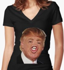 Funny Donald Trump Meme Women's Fitted V-Neck T-Shirt