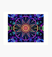 """Return to Awe"" - Psychedelic Abstract Mandala  Art Print"