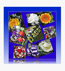 Floral Tributes to a Valiant Man Photographic Print