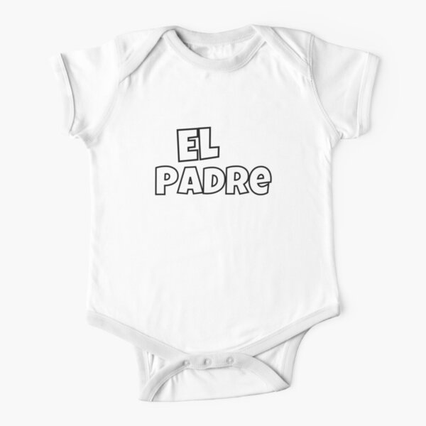 El Padre - Black Short Sleeve Baby One-Piece