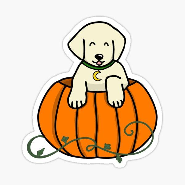 Pumpkin puppy Sticker