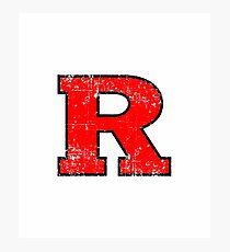 Rutgers grunge Photographic Print