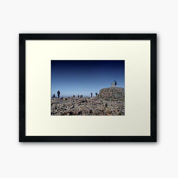 Around the trigonometrical point - summit of Ben Nevis, Scotland Framed Art Print