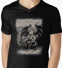 Cthulhu - Rise Great Old One Men's V-Neck T-Shirt