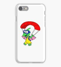 Illustration of a pterodactyl parachuting. iPhone Case/Skin