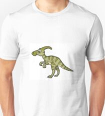 Cute illustration of a Parasaurolophus dinosaur. Unisex T-Shirt