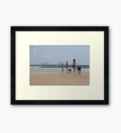 Peaceful Palm Beach Framed Print