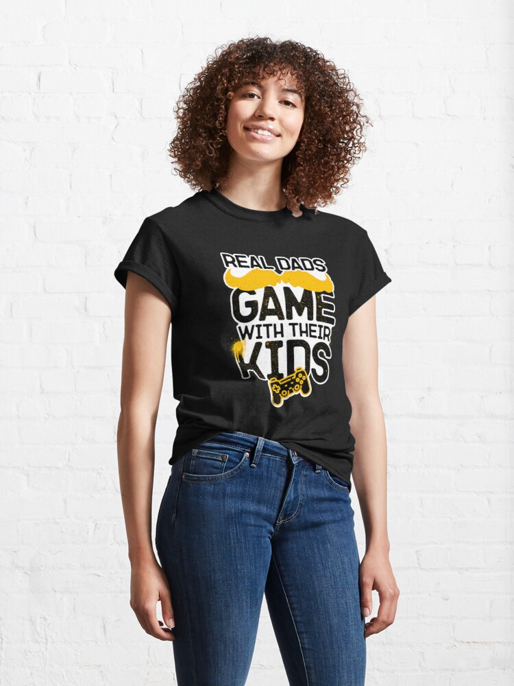 Alternate view of Real Dads Game With Their Kids Classic T-Shirt