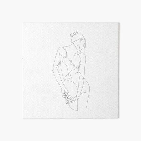 ligature - one line art Art Board Print