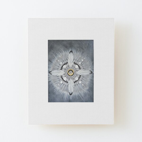Mandala, intuitive painting Wood Mounted Print