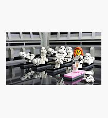 Stormtrooper Yoga Photographic Print