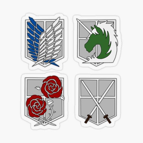 L'Attaque des Titans - Tout les régiments Sticker transparent